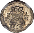 Colombia, Colombia: Ferdinand VII 1/4 Real 1816-Pn MS65 NGC,...