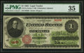 Large Size:Legal Tender Notes, Fr. 17a $1 1862 Legal Tender PMG Choice Very Fine 35.. ...