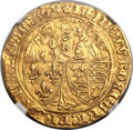 France: Anglo-Gallic (Aquitaine). Henry VI of England (1422-53) gold Salut d'or ND AU55 NGC