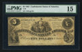 Confederate Notes:1861 Issues, T36 $5 1861 PF-7 Cr. 282.. ...