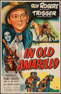 """In Old Amarillo (Republic, 1951). Trimmed One Sheet (26"""" X 40""""). Western"""