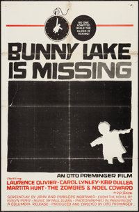 "Bunny Lake is Missing & Other Lot (Columbia, 1965). One Sheets (2) (27"" X 41""). Mystery. ... (Total: 2..."