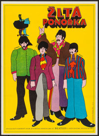 "Yellow Submarine (1971). First Release Czech Poster (11.25"" X 15.5""). Animation"