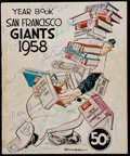 Autographs:Bats, 1958 San Francisco Giants Team Signed Yearbook....