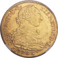 Colombia, Colombia: Charles III gold 8 Escudos 1786 NR-JJ MS62 NGC,...