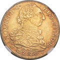 Colombia, Colombia: Charles III gold 8 Escudos 1788 NR-JJ MS61 NGC,...