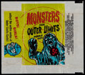 Non-Sport Cards:Unopened Packs/Display Boxes, Scarce 1964 Bubbles, Inc. (Topps) Outer Limits Five-cent Wrapper....