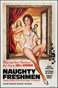 "Naughty Freshmen & Others Lot (SRC Films, 1970). One Sheets (40) (25"" X 37"", 26"" X 40"", 27&q..."