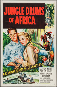 """Jungle Drums of Africa (Republic, 1952). One Sheets (5) (27"""" X 41"""") Folded. Serial. ... (Total: 5 Items)"""