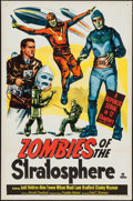 """Movie Posters:Serial, Zombies of the Stratosphere (Republic, 1952). One Sheet (27"""" X41""""). Serial.. ..."""
