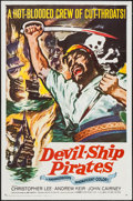 "Movie Posters:Adventure, Devil-Ship Pirates (Columbia, 1961). One Sheet (27"" X 41"") &Lobby Card Set of 8 (11"" X 14""). Adventure.. ... (Total: 9 Items)"