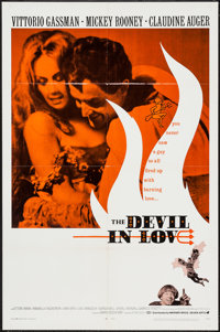 "The Devil in Love (Warner Brothers, 1968). One Sheet (27"" X 41"") & Lobby Card Set of 8 (11"" X 14&..."