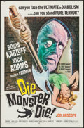 "Movie Posters:Horror, Die Monster Die! (American International, 1965). One Sheet (27"" X 41""). Horror.. ..."