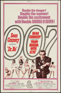 "Movie Posters:James Bond, Dr. No/From Russia with Love Combo (United Artists, R-1965). One Sheet (27"" X 41""). James Bond.. ..."