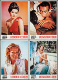 "Movie Posters:James Bond, Dr. No (United Artists Europe, R-1970s). Italian Photobustas (4)(13"" X 18""). James Bond.. ... (Total: 4 Items)"