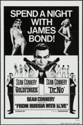 "Movie Posters:James Bond, Spend a Night with James Bond! ( United Artists, R-1972). One Sheet(27"" X 41""). James Bond.. ..."