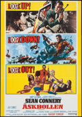 "Movie Posters:James Bond, Thunderball (United Artists, R-1973). Swedish One Sheet (27.25"" X 39.25""). James Bond.. ..."