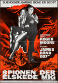 """Movie Posters:James Bond, The Spy Who Loved Me (United Artists, 1977). Danish Poster (23.75""""X 33.75""""). James Bond.. ..."""