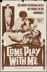 "Come Play with Me & Others Lot (Nova International Productions, 1968). One Sheets (3) (27"" X 41""). Sex..."