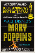 "Movie Posters:Fantasy, Mary Poppins (Buena Vista, 1964). One Sheet (27"" X 41"") Academy Award Style C. Fantasy.. ..."