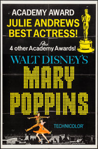 "Mary Poppins (Buena Vista, 1964). One Sheet (27"" X 41"") Academy Award Style C. Fantasy"