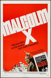 """Malcolm X (Warner Brothers, 1972). One Sheet (27"""" X 41""""). Documentary"""