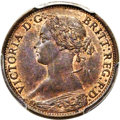 Canada:New Brunswick, Canada: New Brunswick. Victoria 1/2 Cent 1861 MS64 Brown PCGS,...