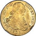 Colombia, Colombia: Charles IV gold 8 Escudos 1800 P-JF AU58 NGC,...
