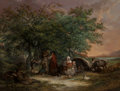 Fine Art - Painting, European:Antique  (Pre 1900), George Morland (British, 1763-1804). The Gipsies' Tent. Oilon canvas. 33 x 44 inches (83.8 x 111.8 cm). NOTE:. This l...(Total: 2 Items)