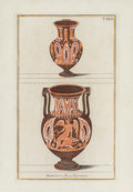 Fine Art - Work on Paper:Print, After Giovanni Battista Passeri. Set of Five Engravings of Etruscan Vases, from Picturae Etruscorum in Vasculis, 177... (Total: 5 Items)