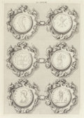 Fine Art - Work on Paper:Print, Continental School (19th Century). Roman Medallions (four works). Engravings on paper, each. 12-3/4 x 9 inches (32.4 x 2... (Total: 4 Items)
