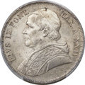 Italy:Papal States, Italy: Papal States. Pius IX 5 Lire 1870-R Anno XXIV MS65 PCGS,...