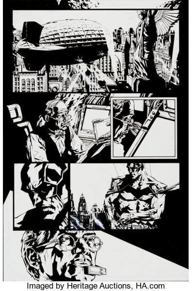 Lee Bermejo and Mick Gray Batman/blow: After the Fire #3 Page ... on