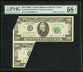 Error Notes:Foldovers, Fr. 2076-H $20 1988A Federal Reserve Note. PMG Choice About Unc 58EPQ.. ...