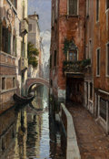 Fine Art - Painting, European:Contemporary   (1950 to present)  , Primo Re (Italian, b. 1930). Venice. Oil on canvas. 39-1/4 x27-3/4 inches (99.7 x 70.5 cm). Signed lower right: Primo...