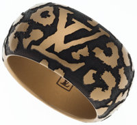 "Louis Vuitton Leopard Enamel Bracelet Excellent Condition 2"" Width x 10"" Length"