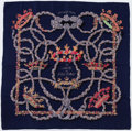"Luxury Accessories:Accessories, Hermes 90cm Blue & Red ""Le Sacre du Printemps,"" by Henrid'Origny Silk and Cashmere Scarf. Very Good to ExcellentConditio..."
