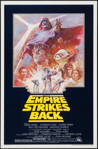 "The Empire Strikes Back (20th Century Fox, R-1981). One Sheet (27"" X 41""). Science Fiction"