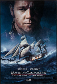 "Master and Commander (20th Century Fox, 2003). One Sheet (27"" X 40"") DS Advance Style A. Adventure"