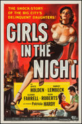 "Movie Posters:Crime, Girls in the Night (Universal International, 1953). One Sheet (27""X 41""). Crime.. ..."