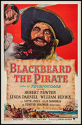 """Movie Posters:Action, Blackbeard the Pirate (RKO, 1952). One Sheet (27"""" X 41""""). Action....."""