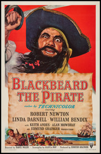 "Blackbeard the Pirate (RKO, 1952). One Sheet (27"" X 41""). Action"