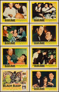 "The Black Sleep (United Artists, 1956). Lobby Card Set of 8 (11"" X 14""). Horror. ... (Total: 8 Items)"