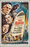 "Movie Posters:Horror, The Raven (American International, 1963). One Sheet (27"" X 41"").Horror.. ..."