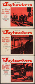 "Movie Posters:Western, The Jayhawkers (Paramount, 1959). Autographed Lobby Cards (3) (11"" X 14""). Western.. ... (Total: 3 Items)"