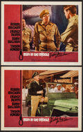 "Movie Posters:War, Man in the Middle (20th Century Fox, 1964). Autographed Lobby Cards (2) (11"" X 14""). War.. ... (Total: 2 Items)"