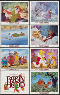 "Movie Posters:Animation, Robin Hood & Others Lot (Buena Vista, R-1982). Lobby Card Set of 8, Title Lobby Card, & Lobby Cards (5) (11"" X 14""). Animati... (Total: 14 Items)"