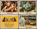 "Movie Posters:Academy Award Winners, Ben-Hur (MGM, 1960). Title Lobby Card & Lobby Cards (3) (11"" X14""). Academy Award Style. Historical Drama.. ... (Total: 4 Items)"