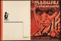 """Movie Posters:Crime, The Testament of Dr. Mabuse (Gloria Film, 1933). Danish Program (16Pages, 4.25"""" X 5.5""""). Crime.. ..."""