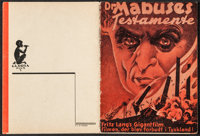 """The Testament of Dr. Mabuse (Gloria Film, 1933). Danish Program (16 Pages, 4.25"""" X 5.5""""). Crime"""